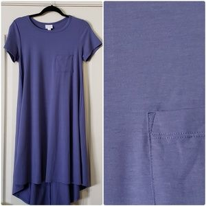 Carly lularoe blue dress size S EUC